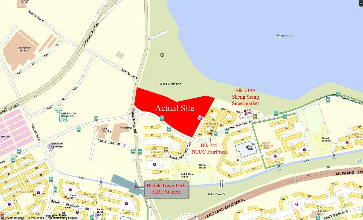 New Bedok Reservoir Condo Location