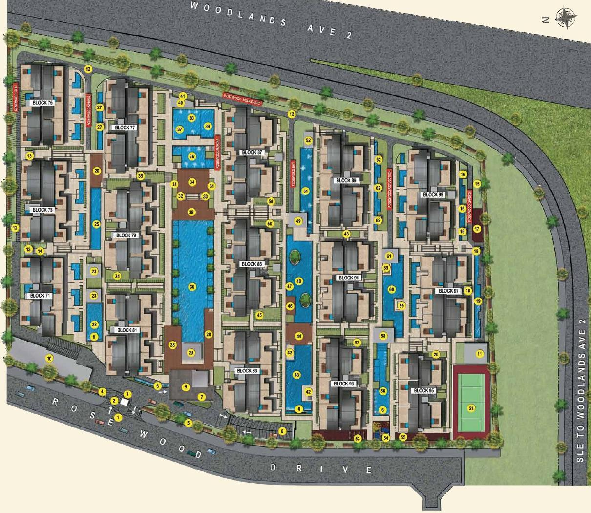 Parc Rosewood Site Layout Plan