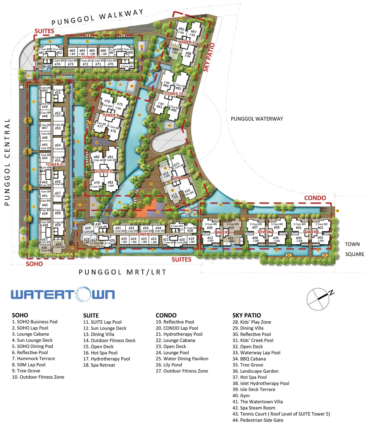 Watertown Condo Singapore - Site Layout Plan