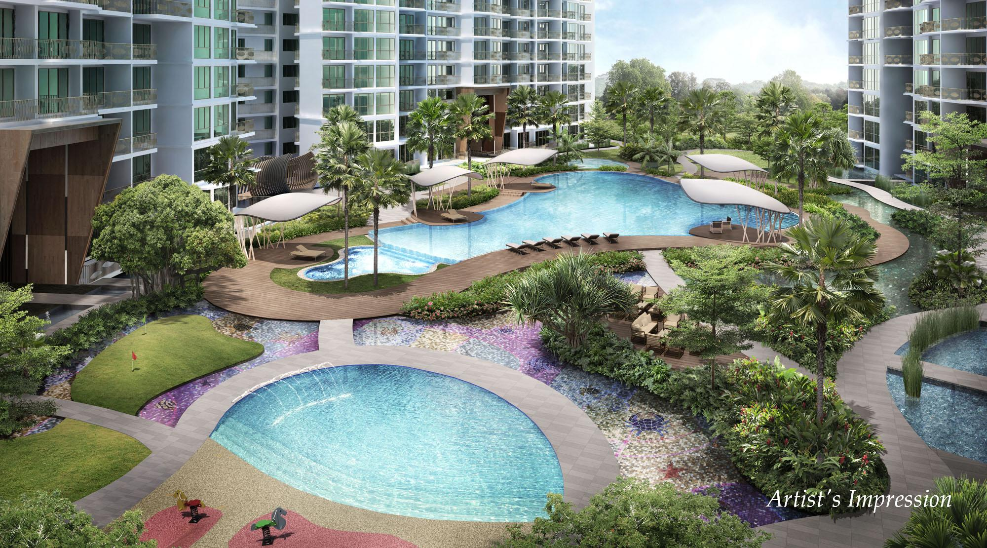 Ripple Bay Condo Pools & Water Features