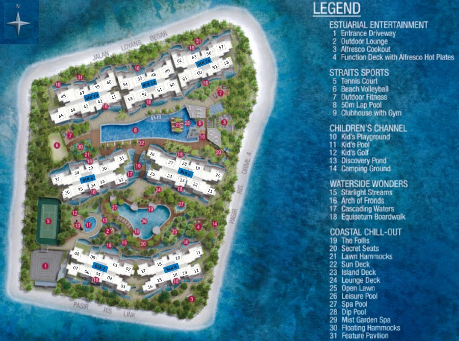 Ripple Bay Site Plan & Facilities