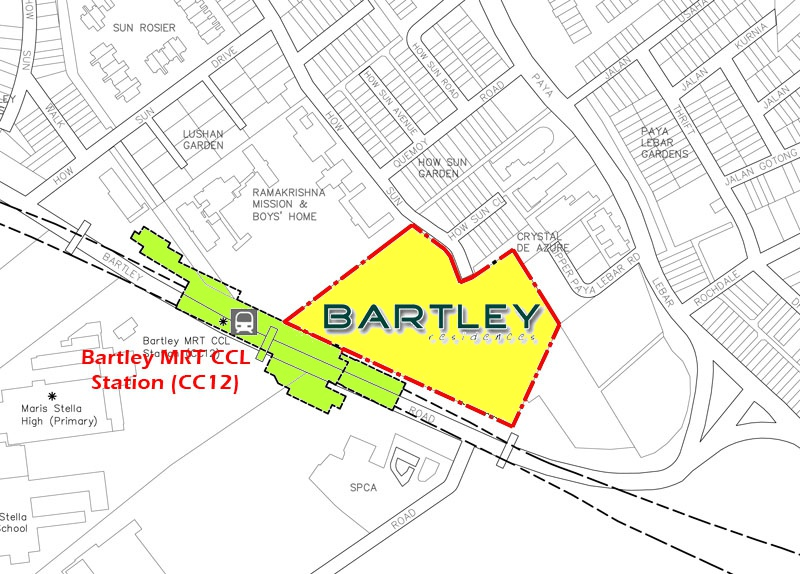 Bartley Residences Showflat Location