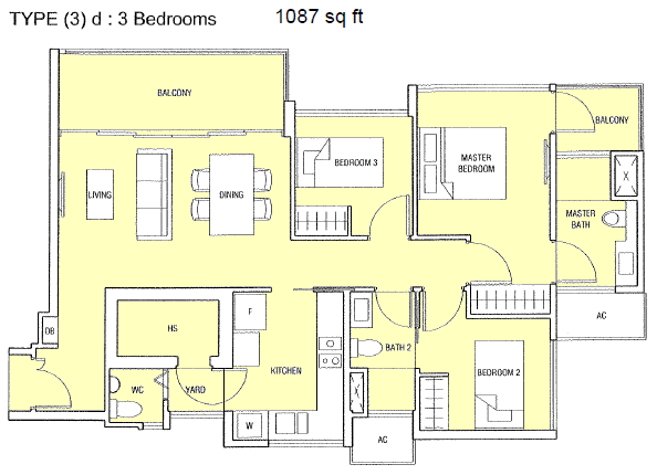 Bartley residences floor plans for 3 bedroom unit floor plans