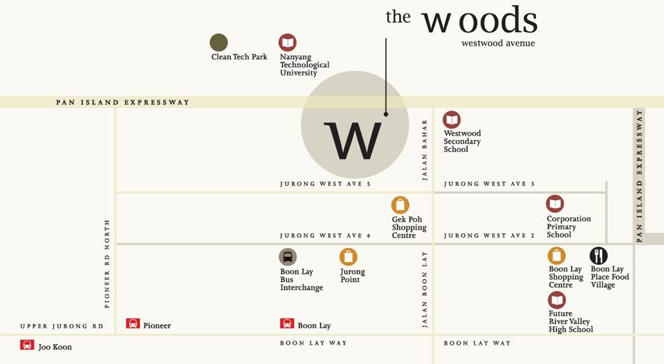 The Woods Showflat Location