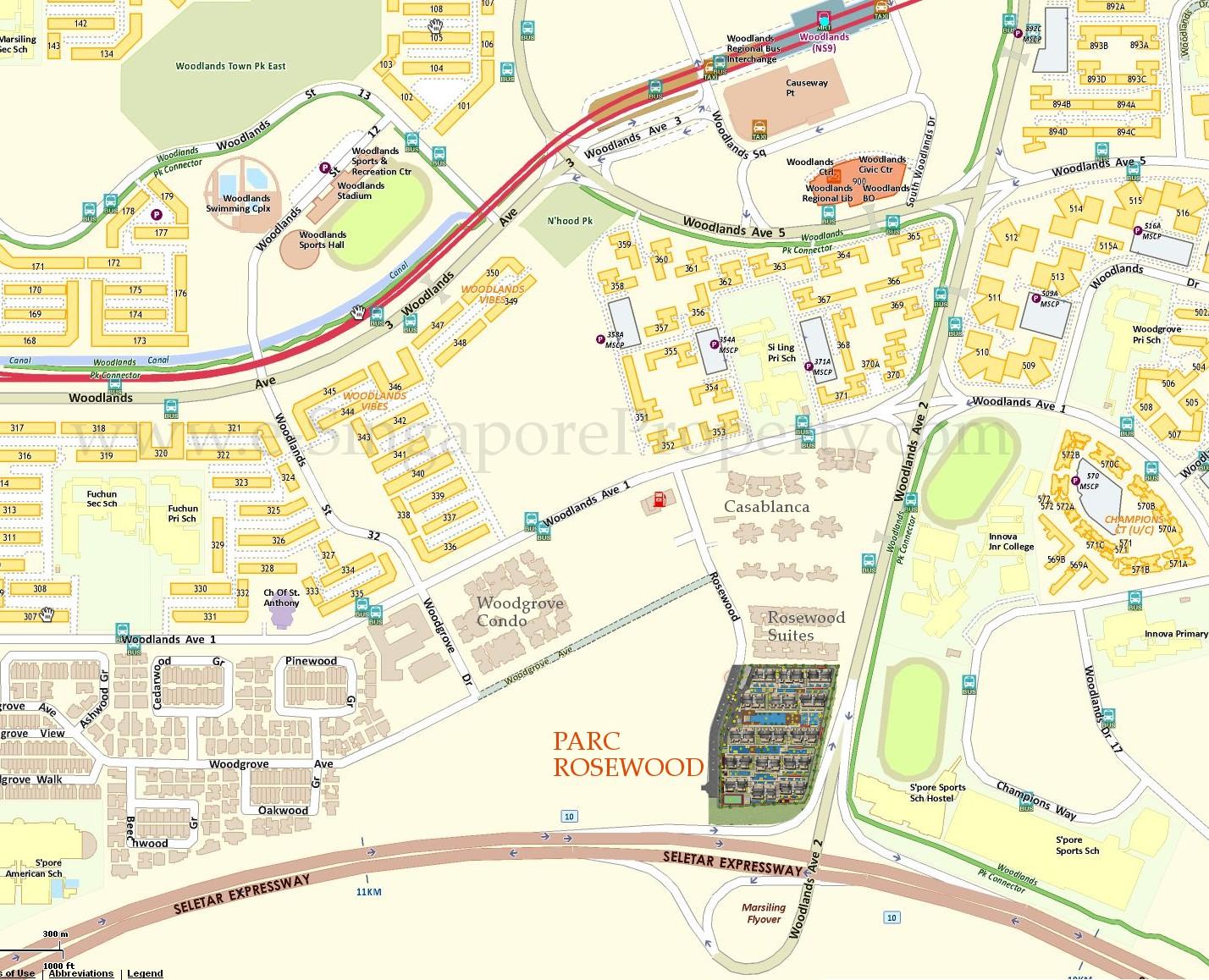 Parc Rosewood Condo Location :: Singapore Condominium for Sale