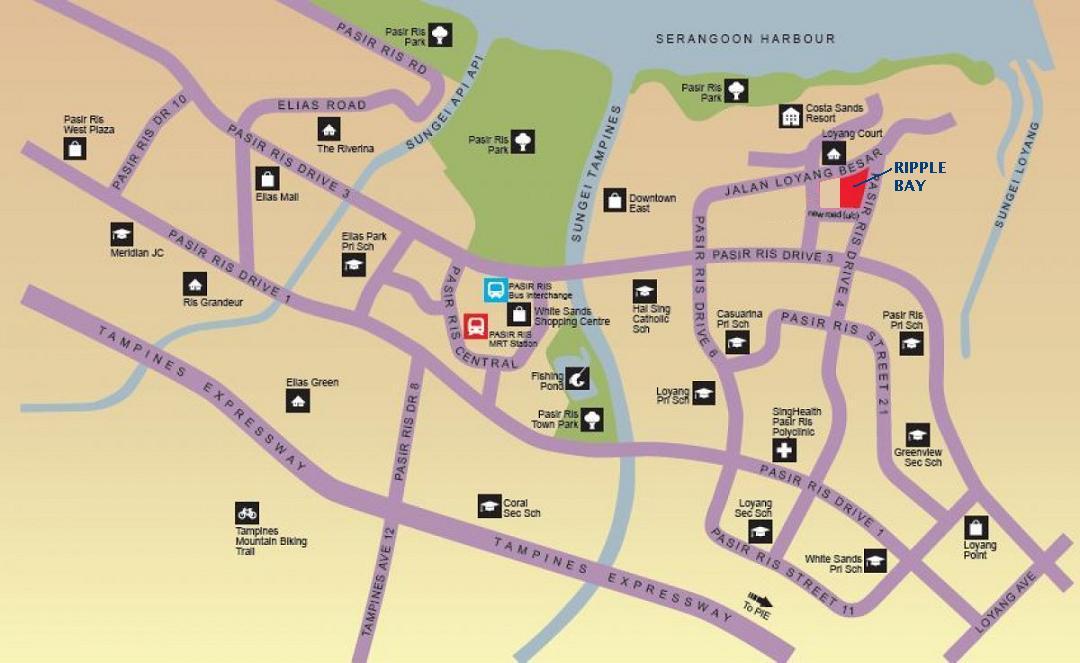 Ripple Bay Location :: New Pasir Ris Condo