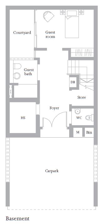 Woods Cluster House Floor Plan