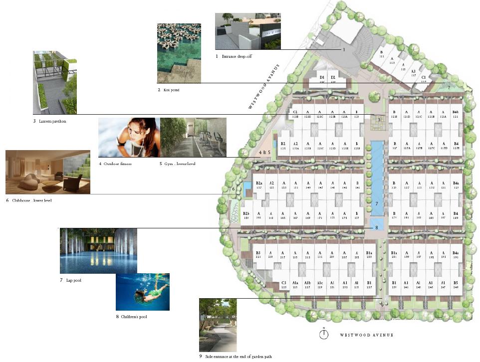 Cluster housing site plans
